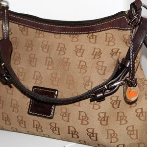 Dooney & Burke Signature Canvas/Leather Handbag